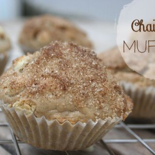 Chai Latte Muffins mit weißer Schokolade