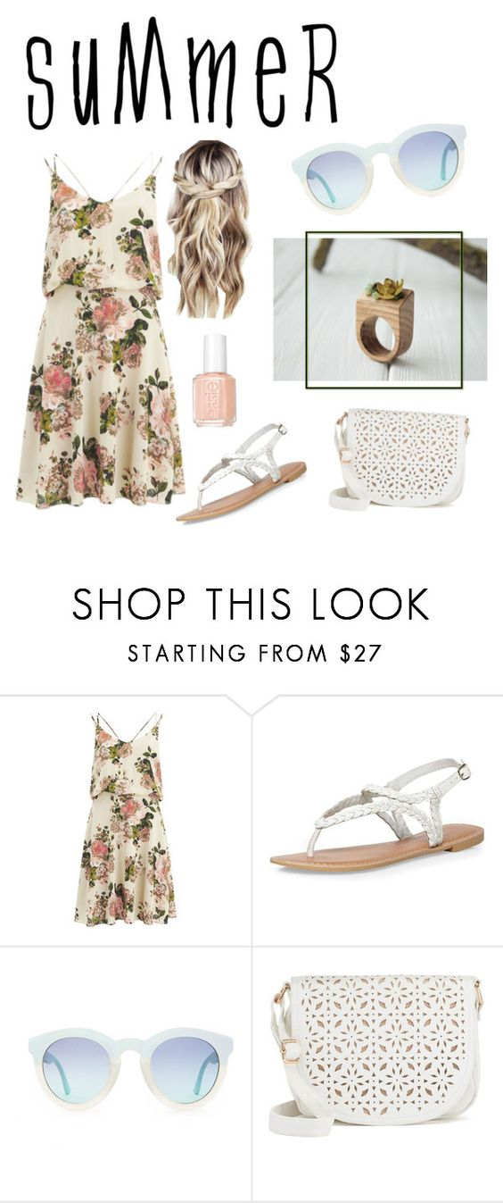 """summer"" by eteniren on Polyvore featuring VILA, Dorothy Perkins, Under One Sky and Essie"