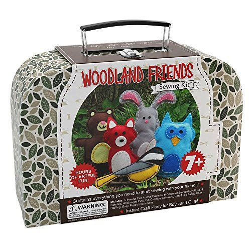 Woodland Animals Kids Arts  Crafts Project KitHours of Artful