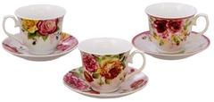 Assorted Rose Teacups Wholesale Case of 24 includes 24 Tea Porcelain Cups and 24…