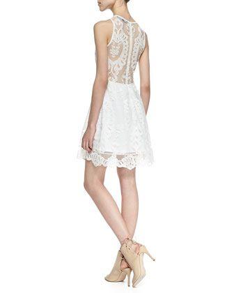 For Love & Lemons | Lulu Mesh-Inset Lace Dress - CUSP