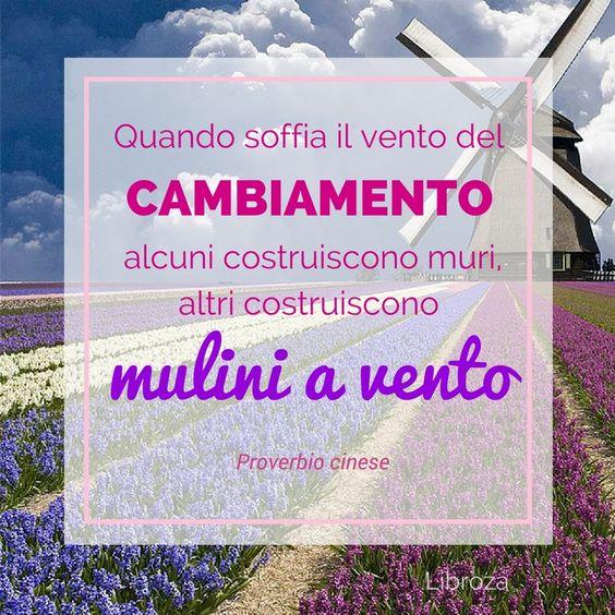 Quando soffia il vento del cambiamento, alcuni costruiscono muri, altri costruiscono mulini a vento (Proverbio cinese) - Libroza.com:
