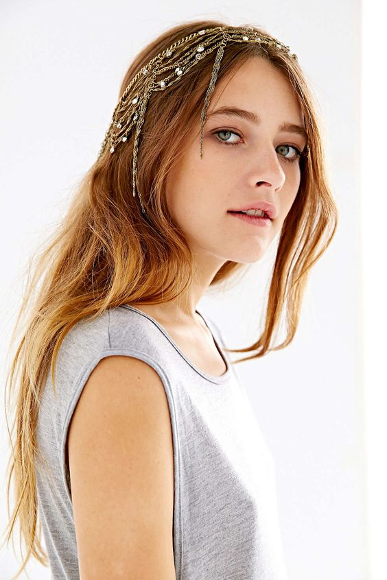 Dripping Chains Jeweled Goddess Chain Headwrap