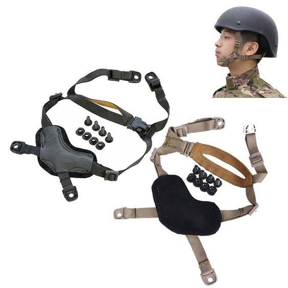 FMA TB956 Helmet Tactical Airsoft Suspension System Military Chin Strap DE//BK