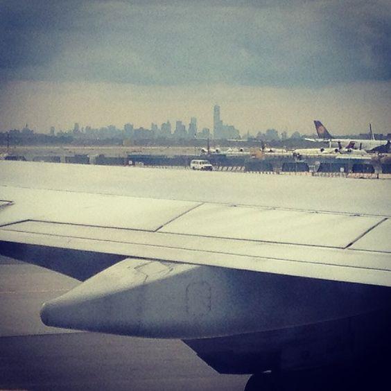 Aankomst op JFK met KLM en zicht op de Skyline! Happy Feelings!