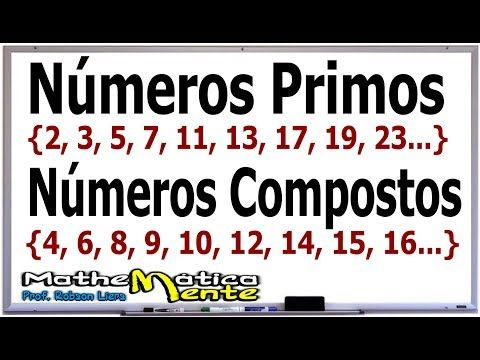 NÚMEROS PRIMOS E NÚMEROS COMPOSTOS - Prof. Robson Liers - YouTube | Números  primos, Estude matemática, Truques de matemática