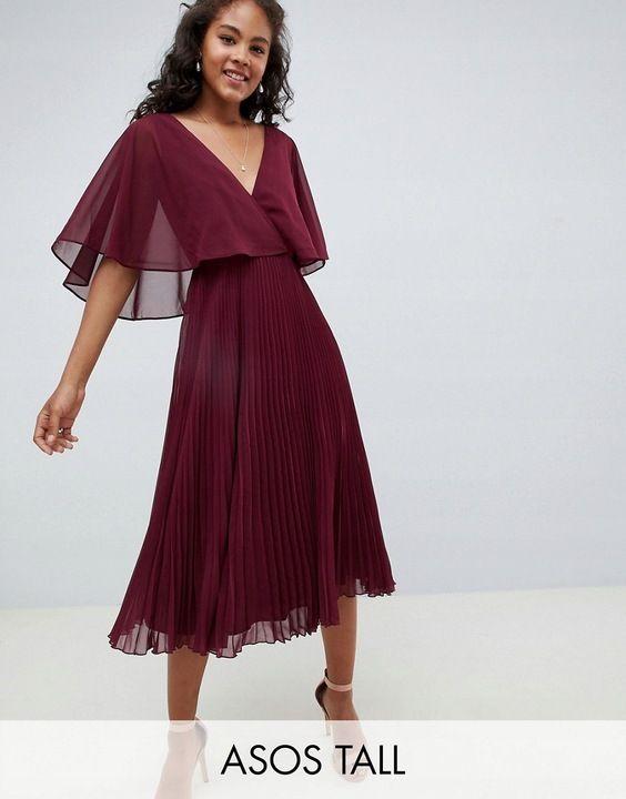 W 6 11 7 Tall Sukienka Midi Rozmiar 48 7745695230 Oficjalne Archiwum Allegro Beautiful Dresses Short Long Dresses Midi Dress