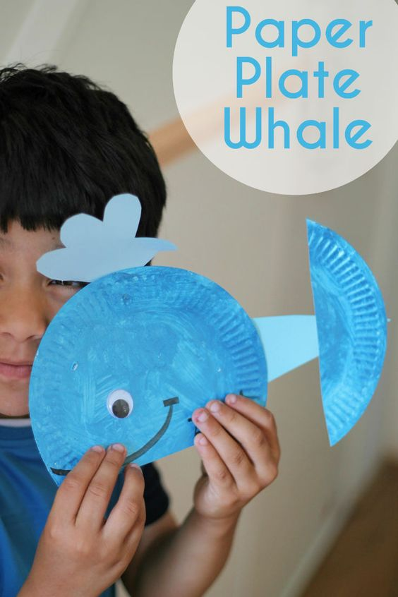 Paper Plate Whale - In The Playroom :)