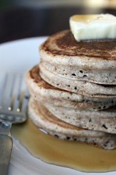 Spelt Flour Pancakes -- an awesome recipe that was delicious this morning. I thought my pancake dream was dead until I remembered that sad carton of almond milk in the pantry. Added cinnamon to the batter, and topped with almond butter and maple syrup.