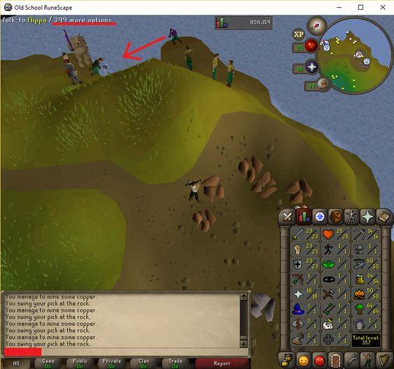 Bots are taking over F2P worlds
