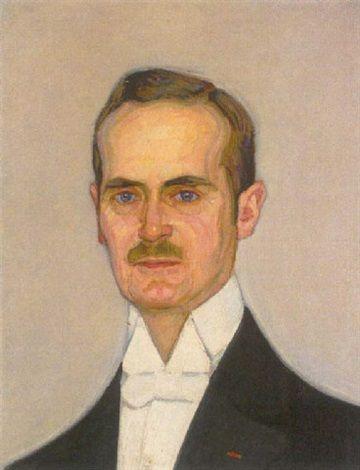 1912 - W. v. Ruckteschell - Portrait eines Herren