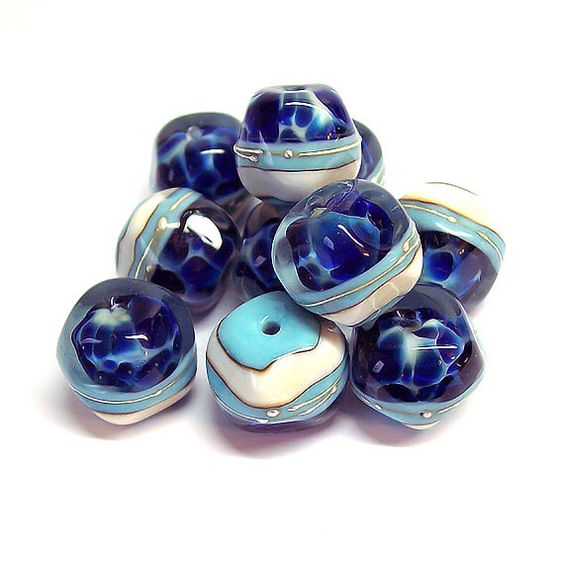 Winter nature. Handmade Lampwork Nuggets(5 pcs) Dark Blue Turquoise 15-16 x 13-14 mm. Made to order. by NataliaKorolyuk on Etsy https://www.etsy.com/listing/214426355/winter-nature-handmade-lampwork-nuggets5