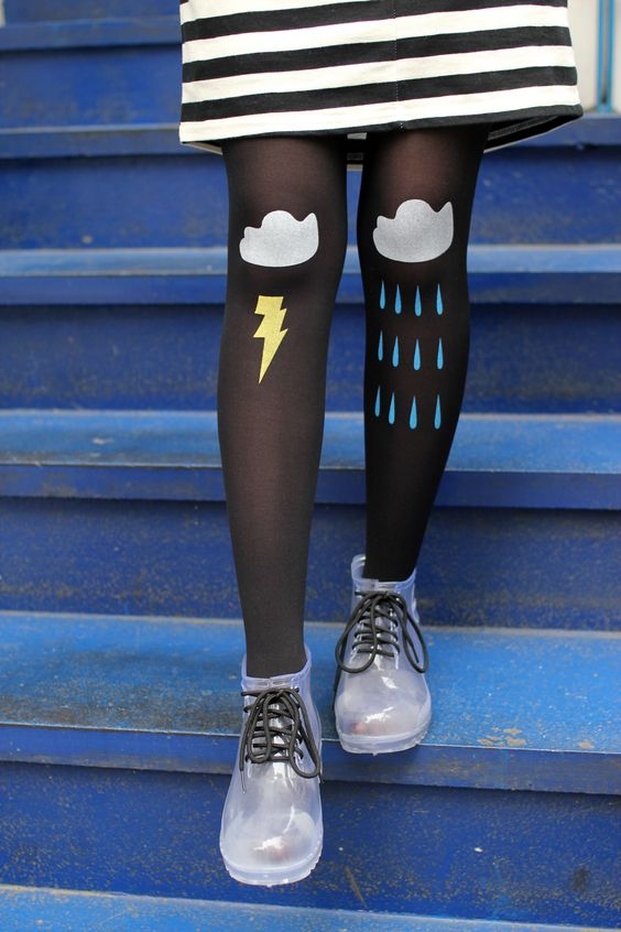 Cloud Tights !! A must have <3  Styling and Photograph by THE WHITEPEPPER