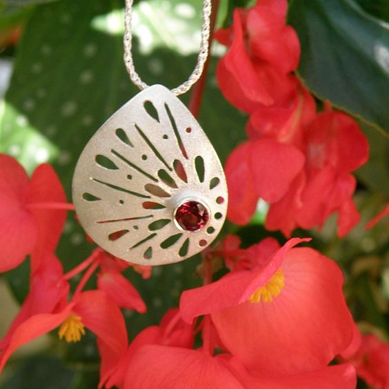 Garnet Sterling Silver Lace Necklace  http://www.etsy.com/listing/63680838/garnet-sterling-silver-necklace-lace