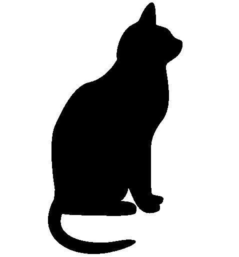 Black Cat Silhouette | Halloween | Pinterest | Pumpkins ...