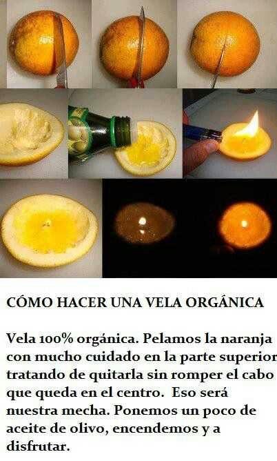 Como hacer una vela orgánica con una naranja