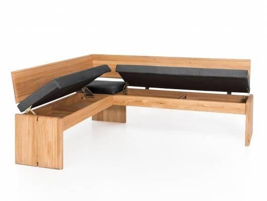 Scott Eckbank Mit Truhe Material Massivholz Bezug Kunstleder Eiche 147 X 167 Cm Grau In 2020 Eckbank Bank Kunstleder