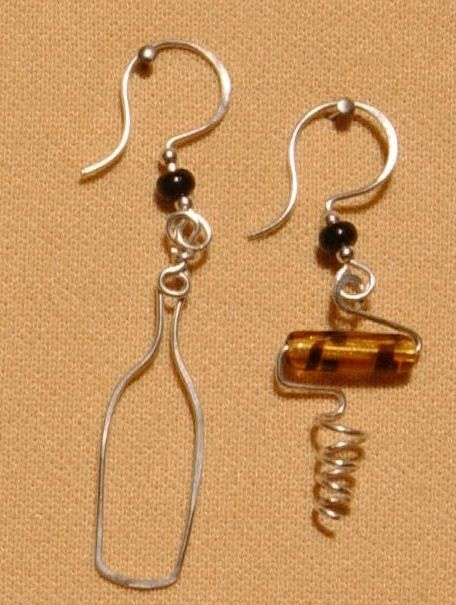 wine glass and grapes, bottle and cork; funny charm/pendant ideas