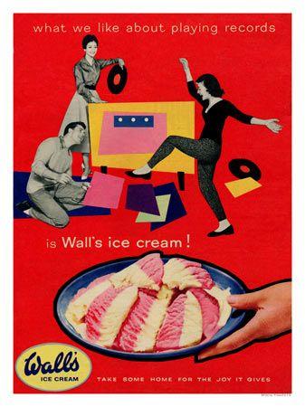 Walls Ice Cream 1950s Advertising Carteles Antiguos Cartel