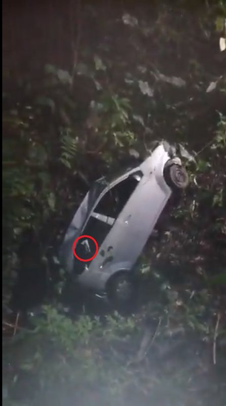 'Ghost' Hand Caught On Video Of A Car Being Pulled Out Of Gombak Ravine