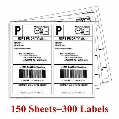 Ad Ebay Url 300 8 5 X 5 5 Premium Shipping Label Half Sheet Self Adhensive Ebay Paypal Ups Labels Shipping Labels Custom Sticker Labels