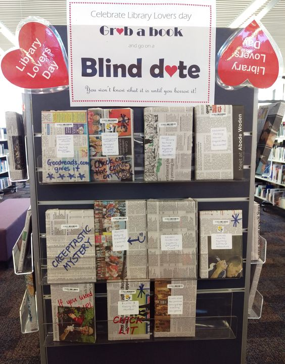 Have a Blind Date with a book! You won't know which book it is until you've borrowed it!   Radford Secondary Library