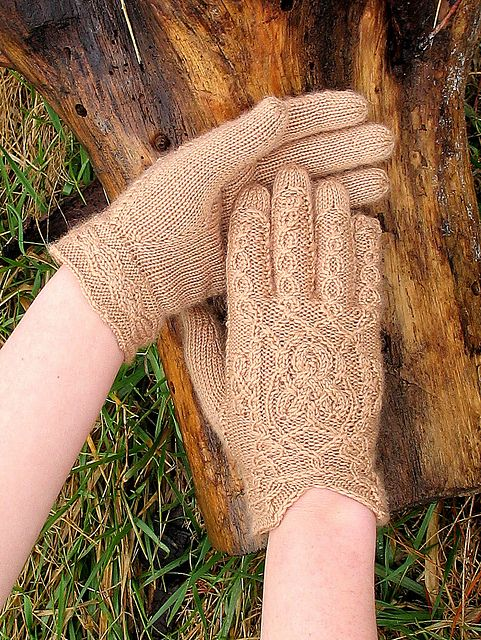 Cable gloves.