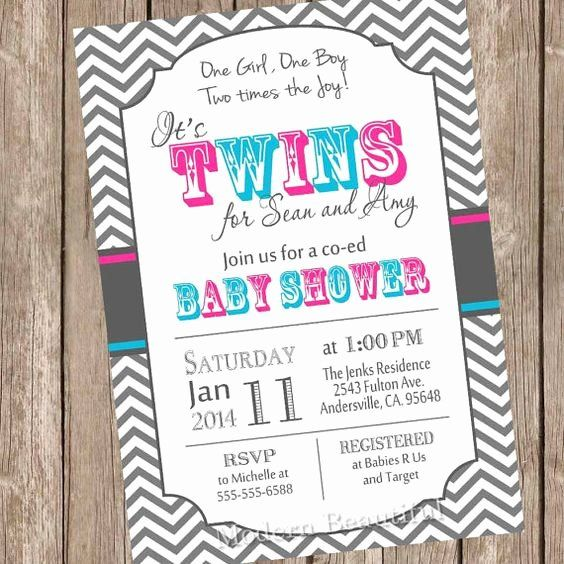 Twin Boy Baby Shower Invitations Elegant Pinterest The World S Catalog Of Ideas