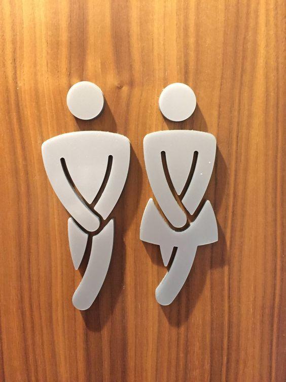 Bathroom For Men And Women Senales De Bano Carteles De Bano Senales Para El Bano