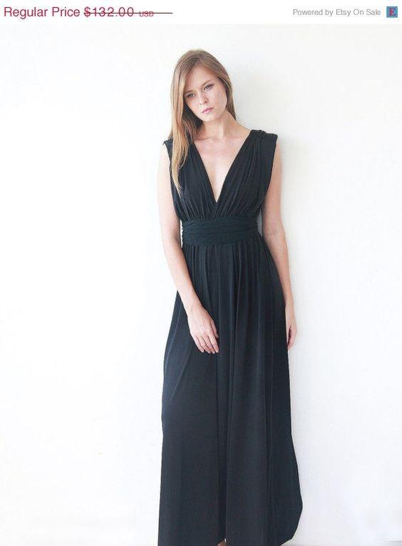Maxi robe d'anniversaire vente noir robe de par BLUSHFASHION