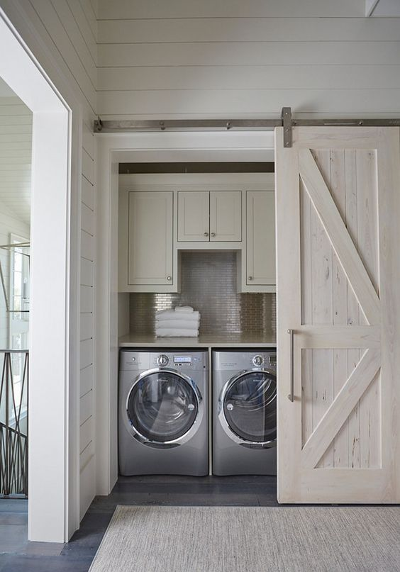 barn doors hide washer and dryer