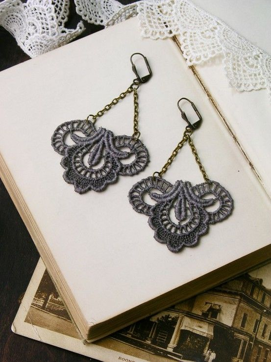 lace earrings by matilda
