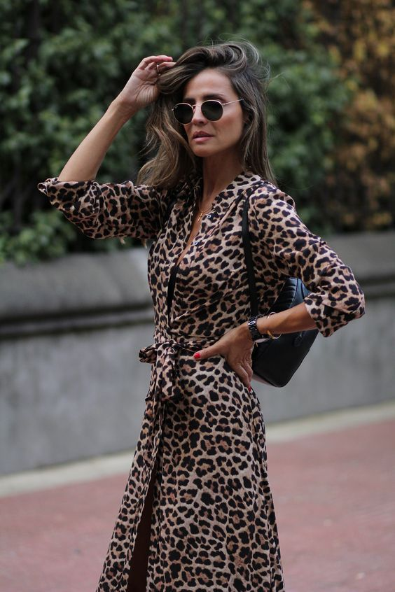 Do S And Don Ts Of Wearing Leopard Prints After 40 Beverly Ennis Hoyle Animal Print Dress Outfits Leopard Print Dress Animal Print Dresses