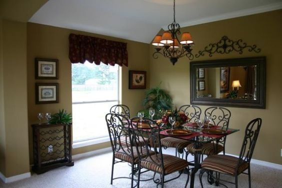 Tuscan inspired dining