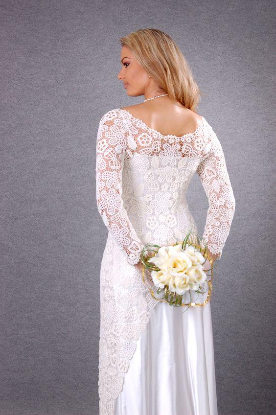 Wedding crochet dress. $1,500.00, via Etsy.