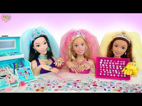 Giant Barbie Styling Head Dolls Princess Makeover Raksasa Boneka Barbie Putri Gigante Prince Barbie Dolls Diy American Girl Doll Furniture Barbie Styling Head
