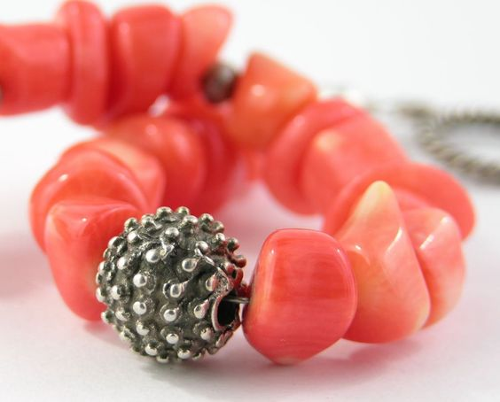 Love this deep coral color for summer