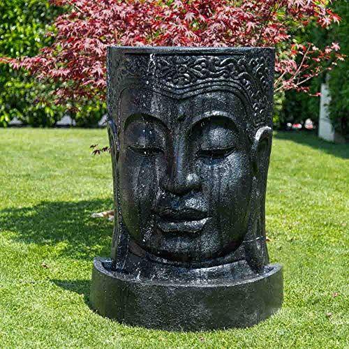 Wanda Collection Fontaine De Jardin Mur D Eau Visage De Bouddha 1
