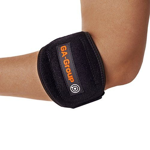 $1.34 ennis Elbow Brace With Compression Pad - 2-Pack - Adjustable - Perfect for Tennis / Golf / Bowling / Weight Lifting - Treats Tendonitis / Tendinitis / Cubital Tunnel - GA-Group - FREE eBook!