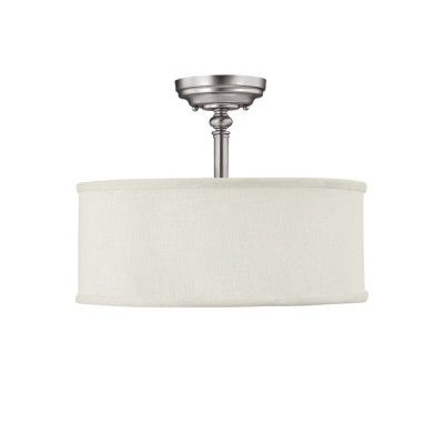 Capital Lighting Loft Semi-Flush Fixture in Matte Nickel