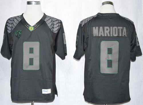 Ducks 8 Marcus Mariota Blackout Limited Stitched Ncaa Jersey Jersey Mariota Nba Sports