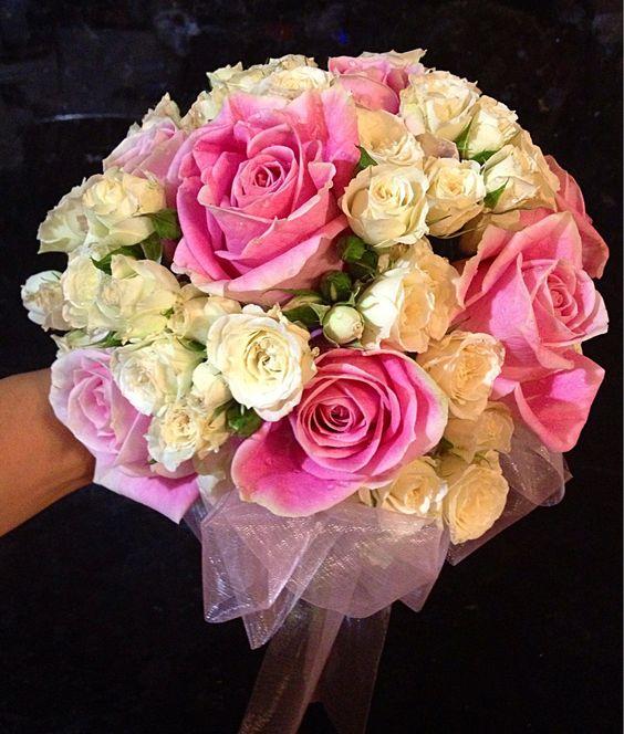 Pink bridal posy