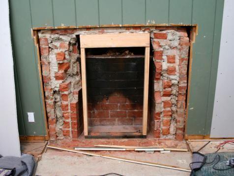 Removing A Brick Fireplace Fireplace Brick Fireplace