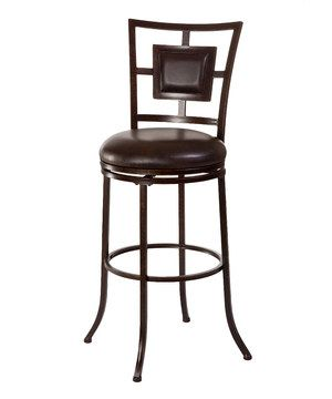 With its café-chic style, this sophisticated stool provides a posh piece of extra seating at the bar or counter. The 360-degree swivel adds impressive versatility.