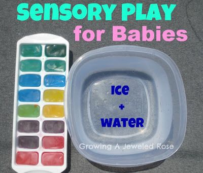 Sensory play plays and activities for babies on pinterest