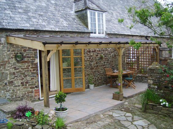 Pergola pergola made pergola made of solid oak with 6mm toughened glass tuin - Glas pergola ...