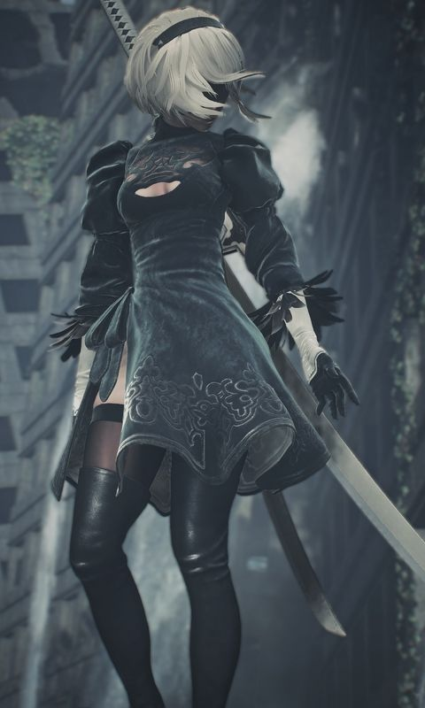 A2 Nier Automata Art Wallpaper For Iphone And 4k Gaming Wallpapers For Laptop Download Now For Free Hd Games 2018games Nier Automata Automata Neir Automata