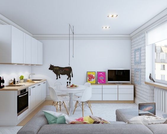 Small Open Plan Home Interiors repinned by proskitchensupply.com
