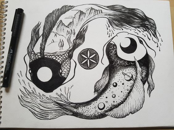Duality Koi Fish - Commission piece