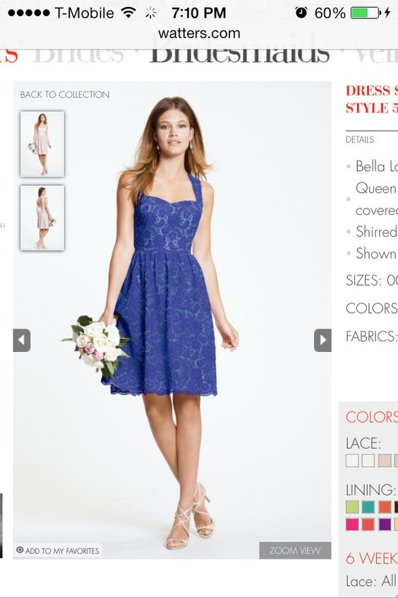 Bridesmaid's dress again by watters